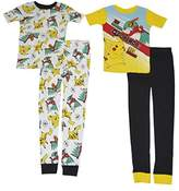 Nintendo Pokemon Battle Boys 4 Piece Pajama Set