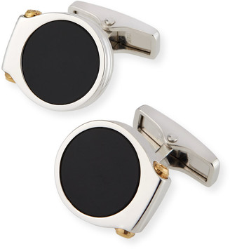 Dunhill Men's Double-Hex Onyx Cufflinks
