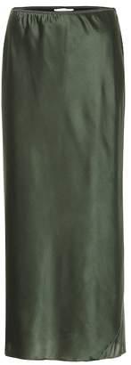 Schumacher Dorothee Shimmering Mystery satin skirt