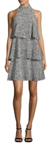 Tracy Reese Silk Printed Tiered Flare Dress