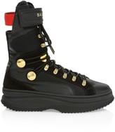 Balmain Puma X Puma x Deva Lace-Up Leather Combat Boots