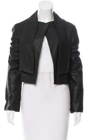 Veda Shawl-Collared Leather Jacket w/ Tags