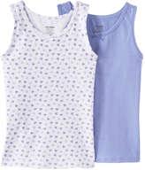 Joe Fresh Kid Girls' 2 Pack Sleeveless Undershirts, Print 3 (Size L)