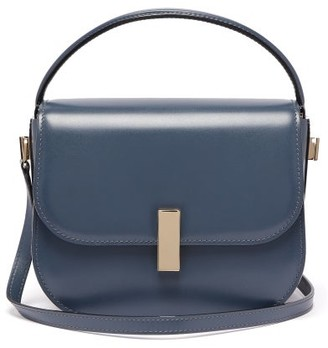 Valextra Iside Cross-body Leather Bag - Blue