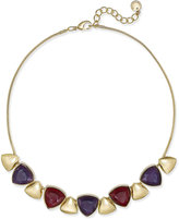 Charter Club Gold-Tone Multi-Stone Statement Necklace, Only at Macy's