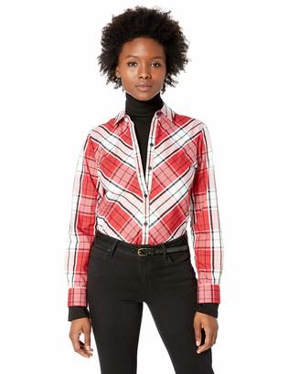 Foxcroft Women's Petite Tina Campbell Tartan Plaid Shirt