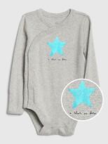 Gap Baby Metallic Graphic Kimono Bodysuit