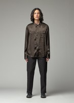 Visvim Men's Bandito Shirt in Black Size 2 100% Rayon