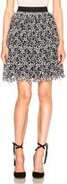 Self-Portrait Daisy Guipere Gathered Mini Skirt