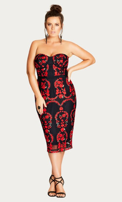 City Chic Dolce Rose Sheath Dress