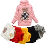 TUTUYU Kids Beer Turtleneck Sweater Boys Girls Knit Sweater for Christmas