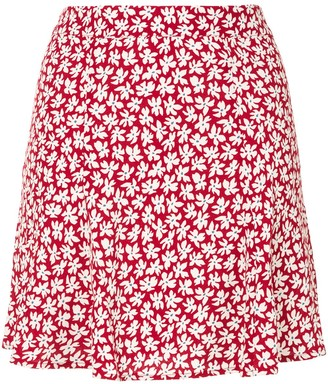 Reformation Flounce mini skirt