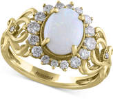 Effy Final Call by EFFYandreg; Opal (9/10 ct. t.w.) and Diamond (1/2 ct. t.w.) Ring in 14k Gold
