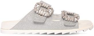 Roger Vivier 20mm Slidy Viv Glittered Sandals