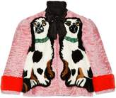 Gucci Spaniel dogs intarsia fur jacket
