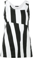 Ann Demeulemeester jersey stripe tank top - women - Cotton - S