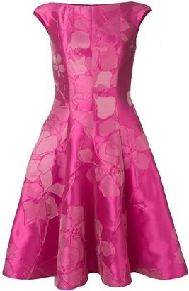 Talbot Runhof Floral Jacquard Midi Dress
