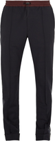 Valentino Slim-leg side-stripe wool-blend trousers