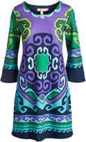 Aryeh Purple & Green Swirl Dress