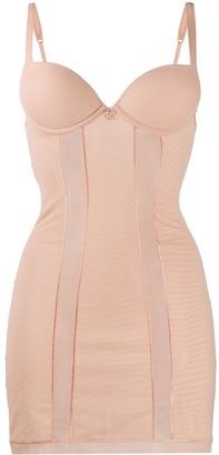 La Perla Floral-Appliqued Shapewear Dress