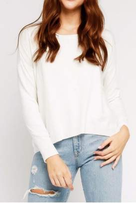 Olivaceous Ivory Back-Zipper Sweater