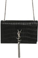 Saint Laurent Monogram Embossed Leather Bag