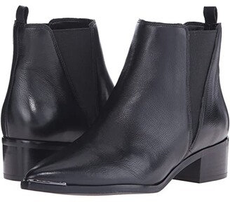 Marc Fisher Yale (Black Leather) Women's Dress Pull-on Boots