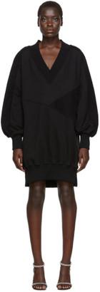 Off-White Off White Black Intarsia Side Zip Sweatshirt Dress