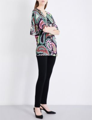 Emilio Pucci V-neck paisley-print jersey top