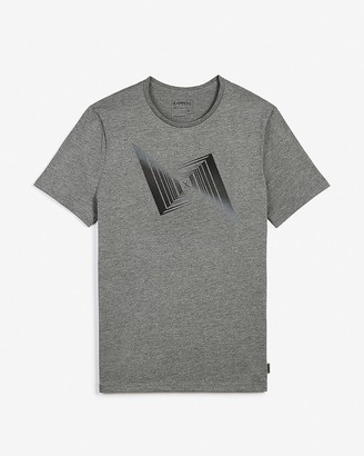 Express Gray Illusion Moisture-Wicking Graphic T-Shirt