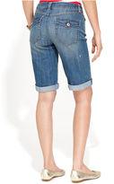 INC International Concepts Jeans, Curvy-Fit Cuffed Denim Shorts