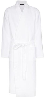 Schiesser waffle-knit robe