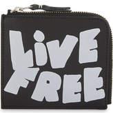Comme des Garcons Live Free leather half-zip wallet