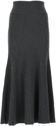 Kenzo Ribbed-Knit Midi Skirt