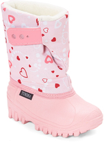 Tundra Pink Heart Teddy Snow Boot