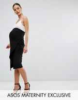 Asos Over The Bump Wrap Midi Skirt