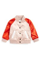 Burberry Infant Girl's Bartinstead Satin Bomber Jacket