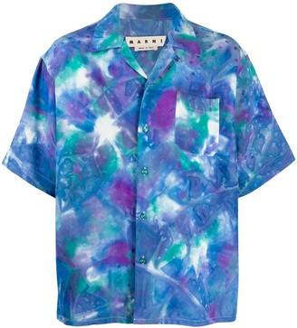 Marni Tie-Dye Jacquard Monogram Shirt