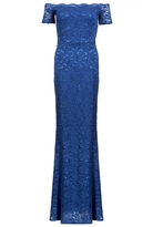 Quiz Royal Blue Sequin Bardot Fishtail Dress