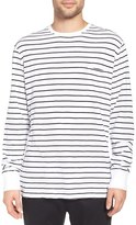 Barney Cools Men's 'B Original' Stripe Pocket Long Sleeve Crewneck T-Shirt