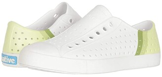 Native Jefferson Block (Shell White/Shell White/Cucumber Gradient Block) Athletic Shoes