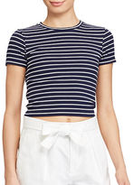 Polo Ralph Lauren Striped Cropped Jersey T-Shirt