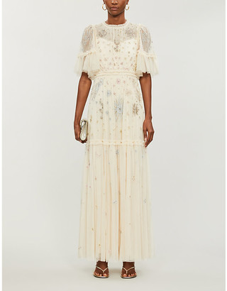 Needle And Thread Needle & Thread x Jasmine Hemsley Ether crystal-embellished recycled-tulle gown