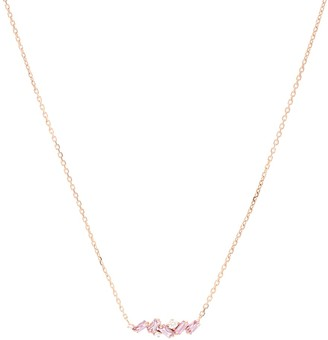 Suzanne Kalan 18kt Rose Gold Necklace With Pink Sapphires And Diamonds