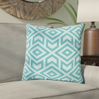 """Gerson Bloomsbury Market Throw Pillow Bloomsbury Market Size: 16"""" x 16"""", Color: Blue"""