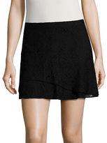 Design Lab Lord & Taylor Lace Mini Skirt