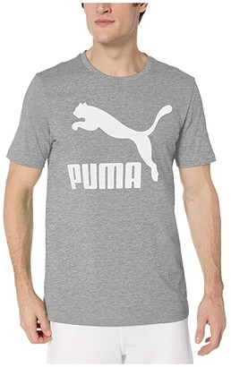 Puma Classics Logo Tee (Medium Gray Heather) Men's Clothing