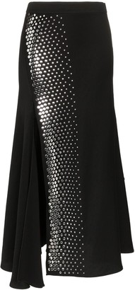 Ellery Asymmetric Studded Skirt