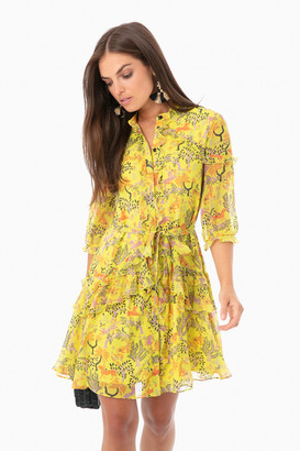 Saloni Citrus Savannah Tilly Ruffle Dress