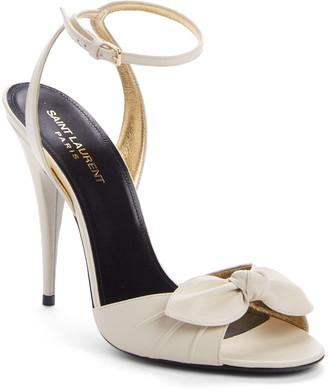 Saint Laurent Tot Bow Ankle Strap Sandal